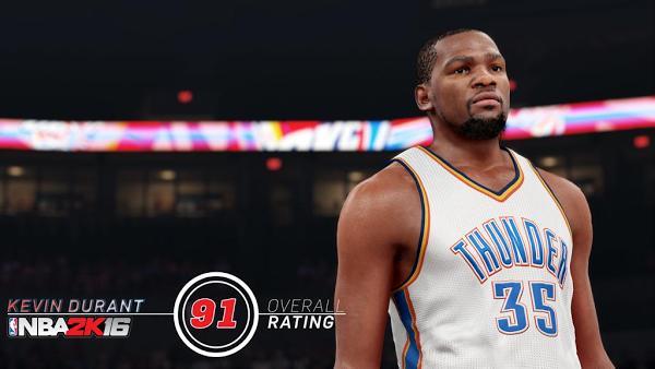 NBA 2k16 a baissé la note de Kevin Durant