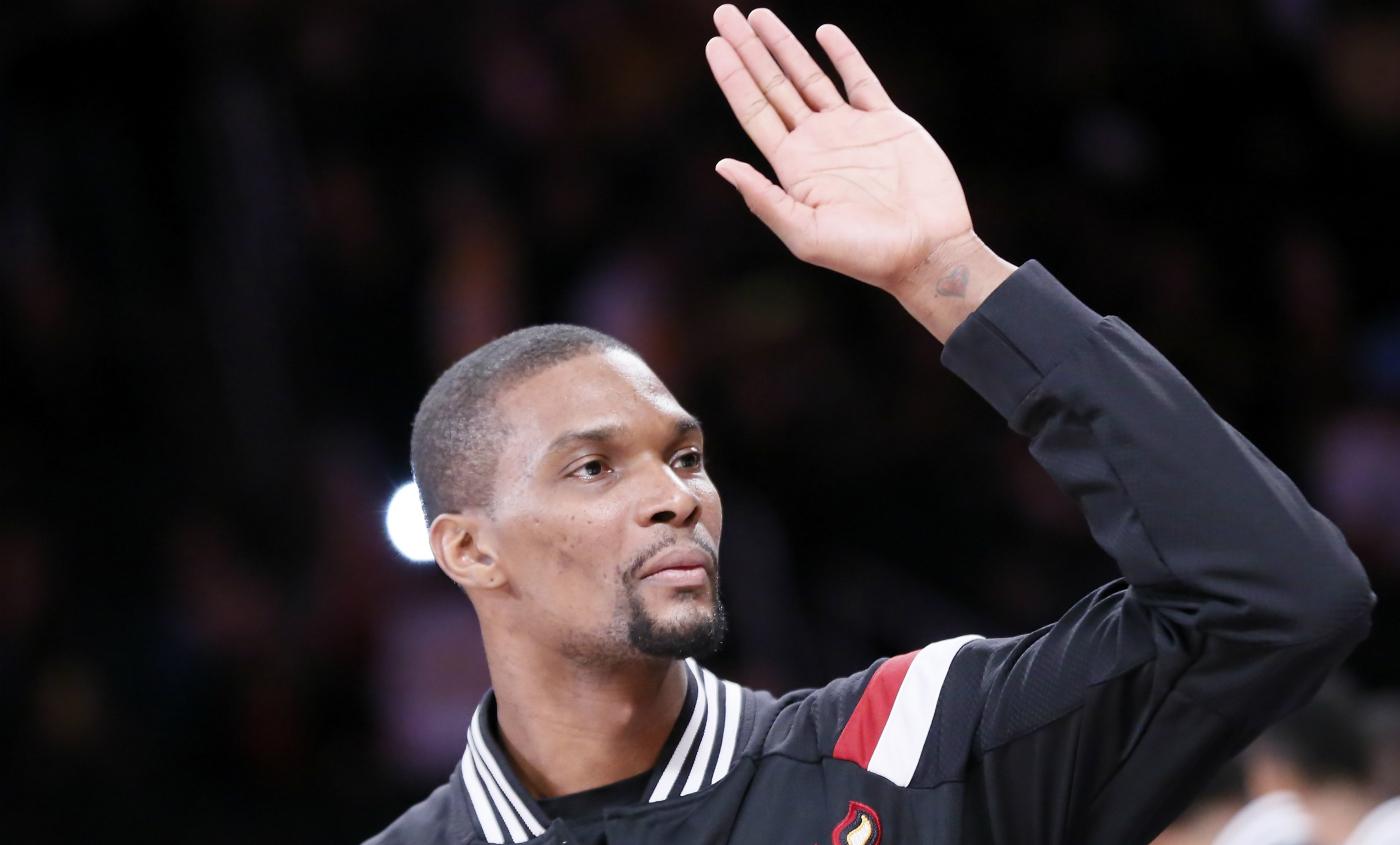 Chris Bosh fait ses adieux au Miami Heat