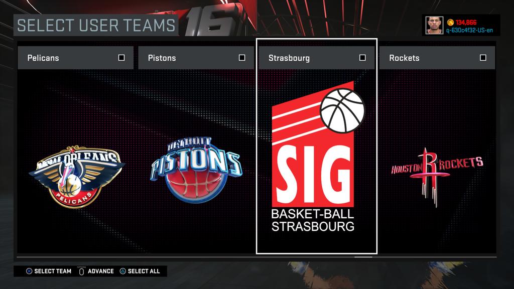 NBA 2K16 : 25 équipes d'Euroligue dont la SIG et le CSP Limoges