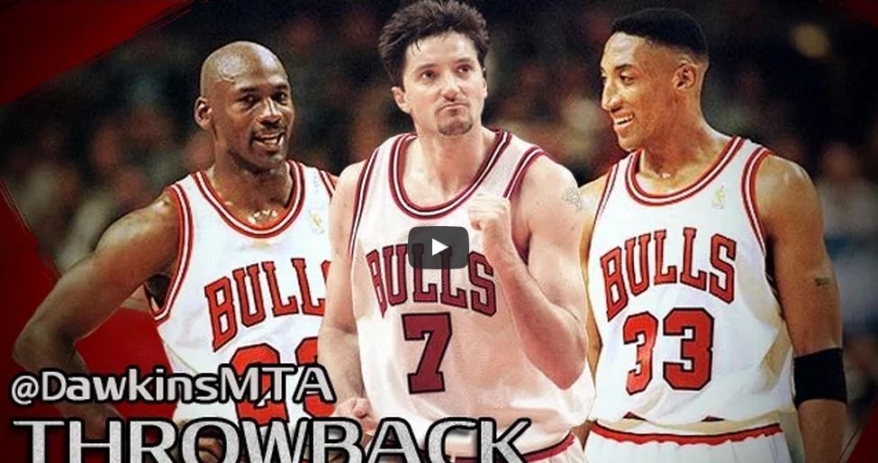 Vintage: La force de frappe du trio Jordan-Pippen-Kukoc