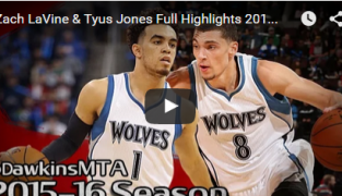 Zach LaVine-Tyus Jones, le futur des Wolves en action