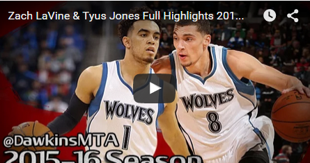 Zach LaVine-Tyus Jones, le futur des Wolves en action