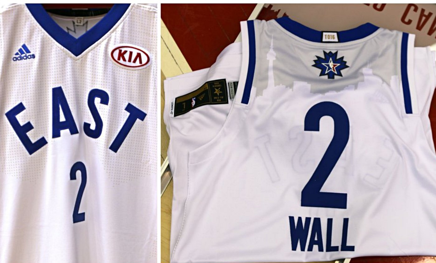 Le premier maillot officiel du All-Star Game avec de la pub !