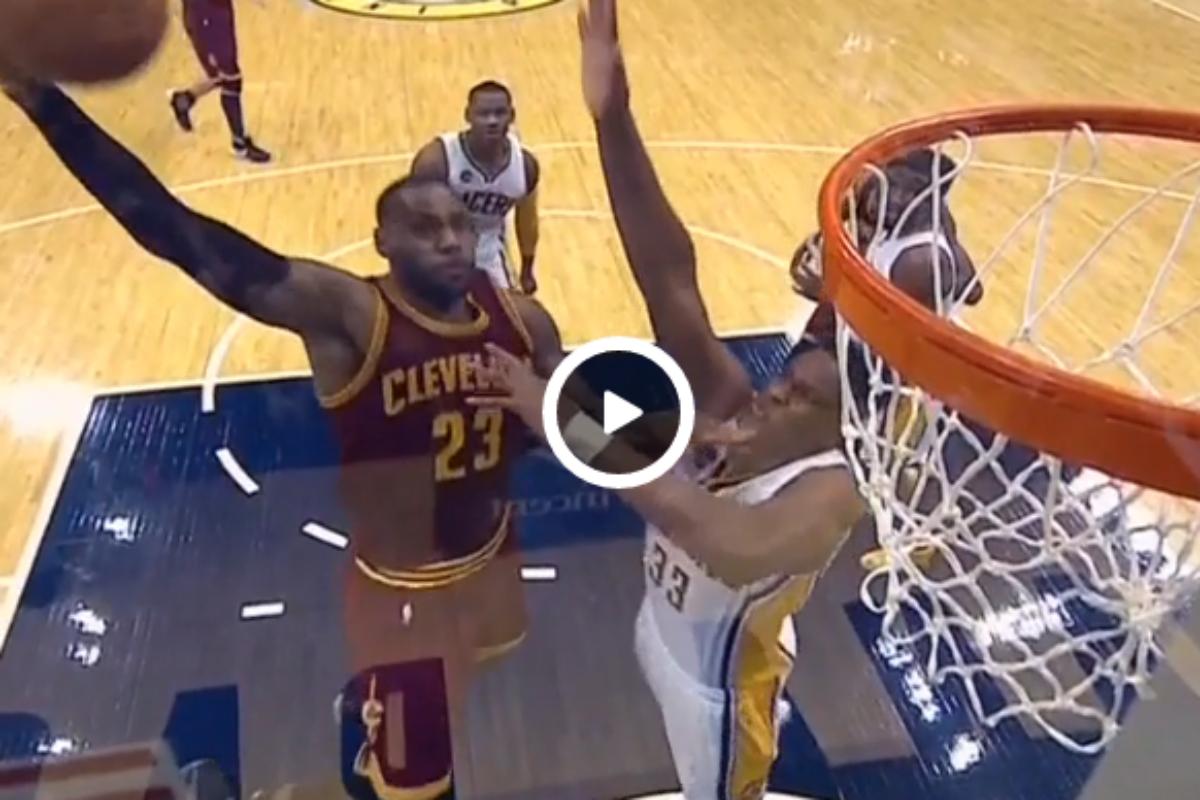 LeBron James méchamment contré par un rookie !