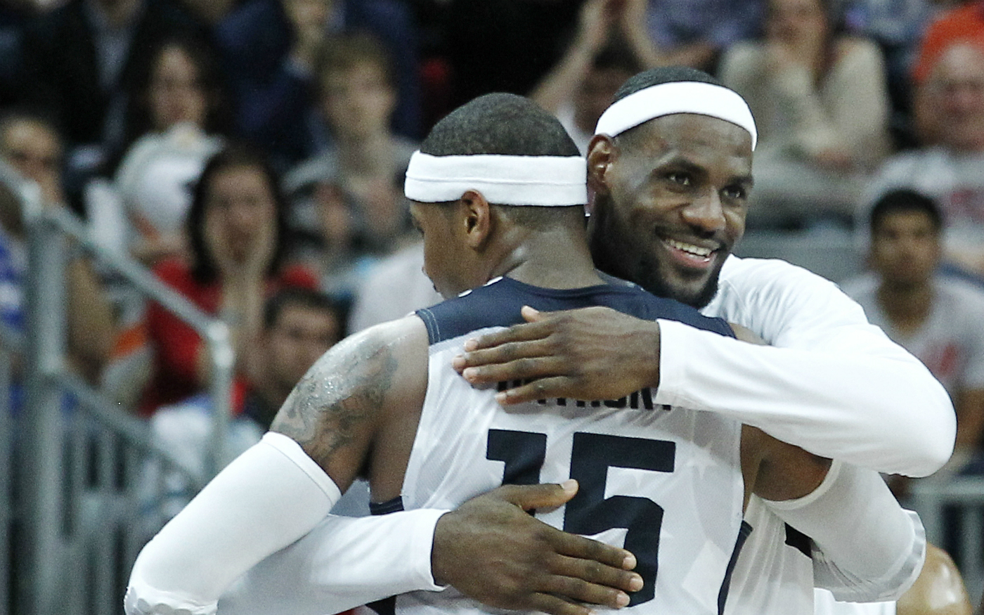 """LeBron James : """"Je veux juste que Melo soit heureux"""""""