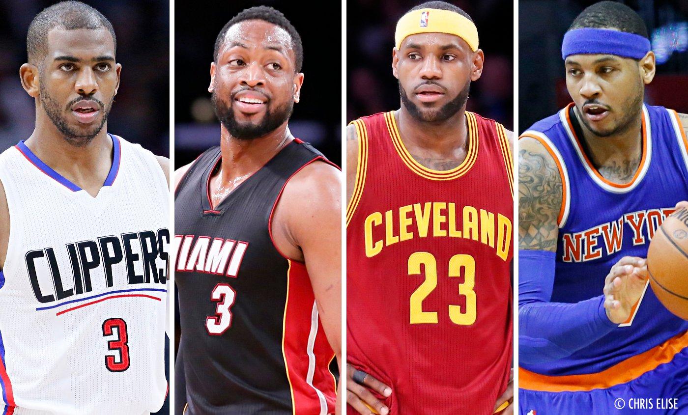 LeBron, Melo, Paul et Wade réunis en 2018 ?