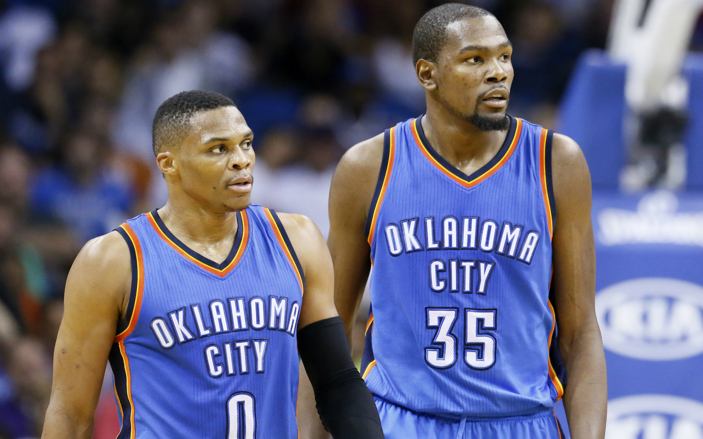 """Kevin Durant : """"Westbrook avait ses gars à OKC, j'avais les miens"""""""