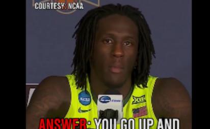 La réponse parfaite d'un joueur NCAA à une question débile