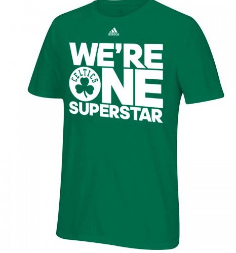 Les Boston Celtics ont un t-shirt bien cool pour les playoffs