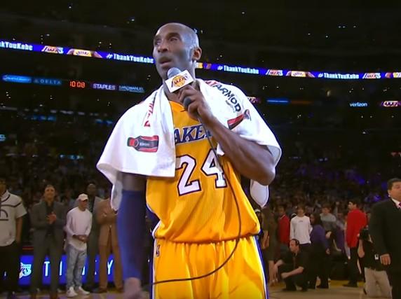 Poignant : Les adieux de Kobe Bryant au Staples Center