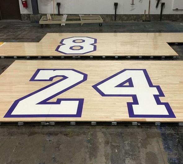 Un parquet dédié à Kobe Bryant pour sa dernière au Staples Center