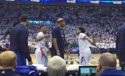 Russell Westbrook s'embrouille avec deux Mavs avant le match