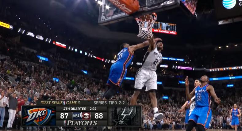 Top 5 : Kawhi Leonard claque un poster sur Westbrook