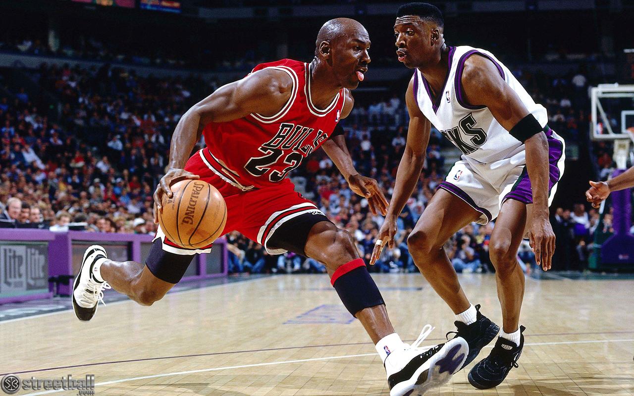 Le Crossover façon Michael Jordan :