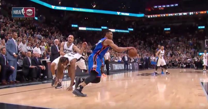 Spurs - Thunder : Encore une action controversée en fin de match...