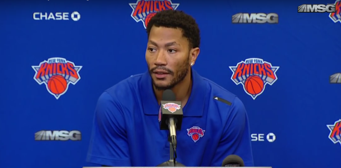 Derrick Rose sur le triangle :