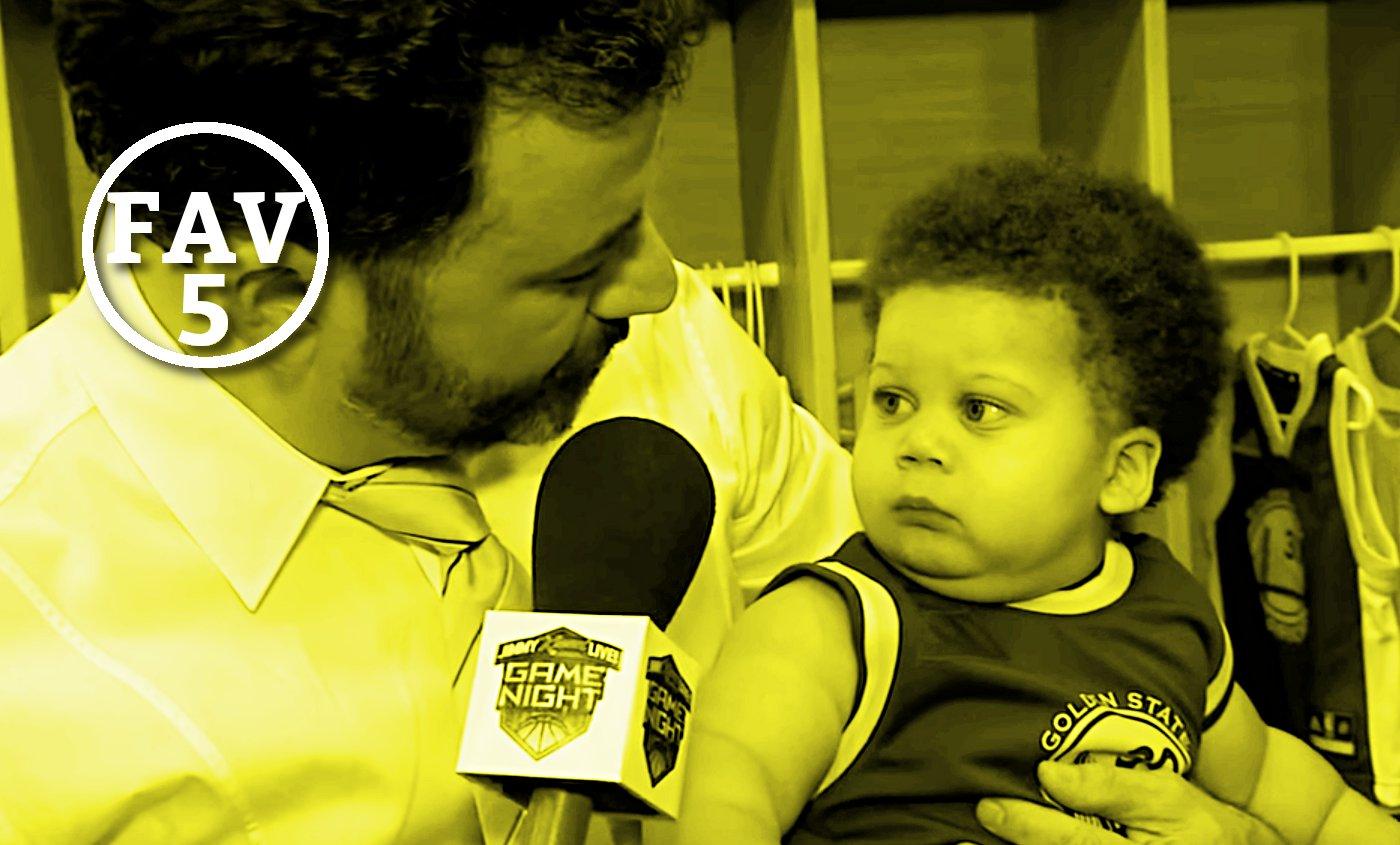 Fav 5 : Delly stoppé par la sécu, les bébés Curry et LeBron s'expriment