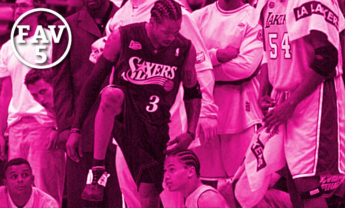Fav 5 : Pourquoi Jordan, Magic, Shaq, AI et Isiah nous ont traumatisés