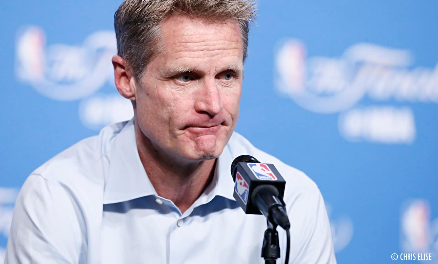 Steve Kerr dégoûté par la performance des Warriors