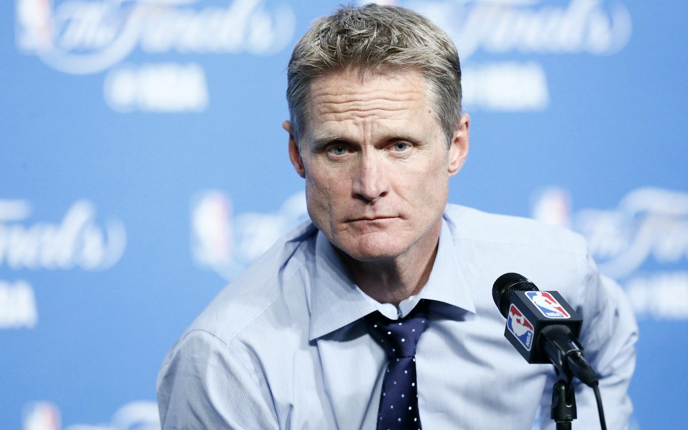 """Steve Kerr """"très déçu"""" des votes des joueurs pour le All-Star Game"""