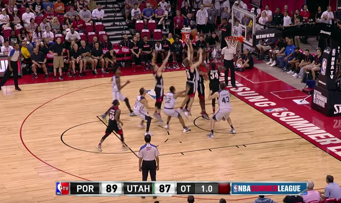 La fin de match folle entre Portland et Utah en Summer League