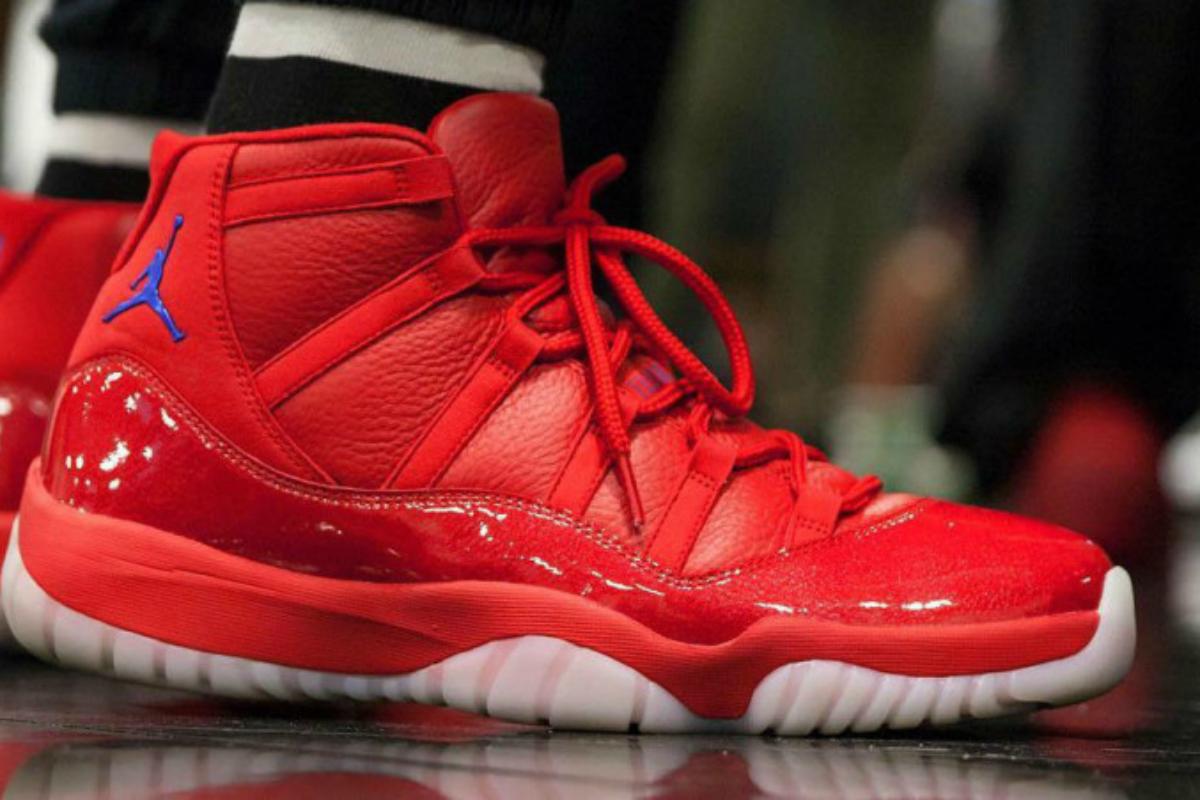 Chris Paul et ses Air Jordan 11 aux couleurs des Clippers