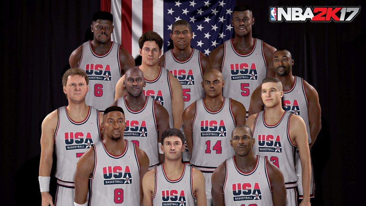 Des premières images de Team USA et de la Dream Team dans NBA 2K