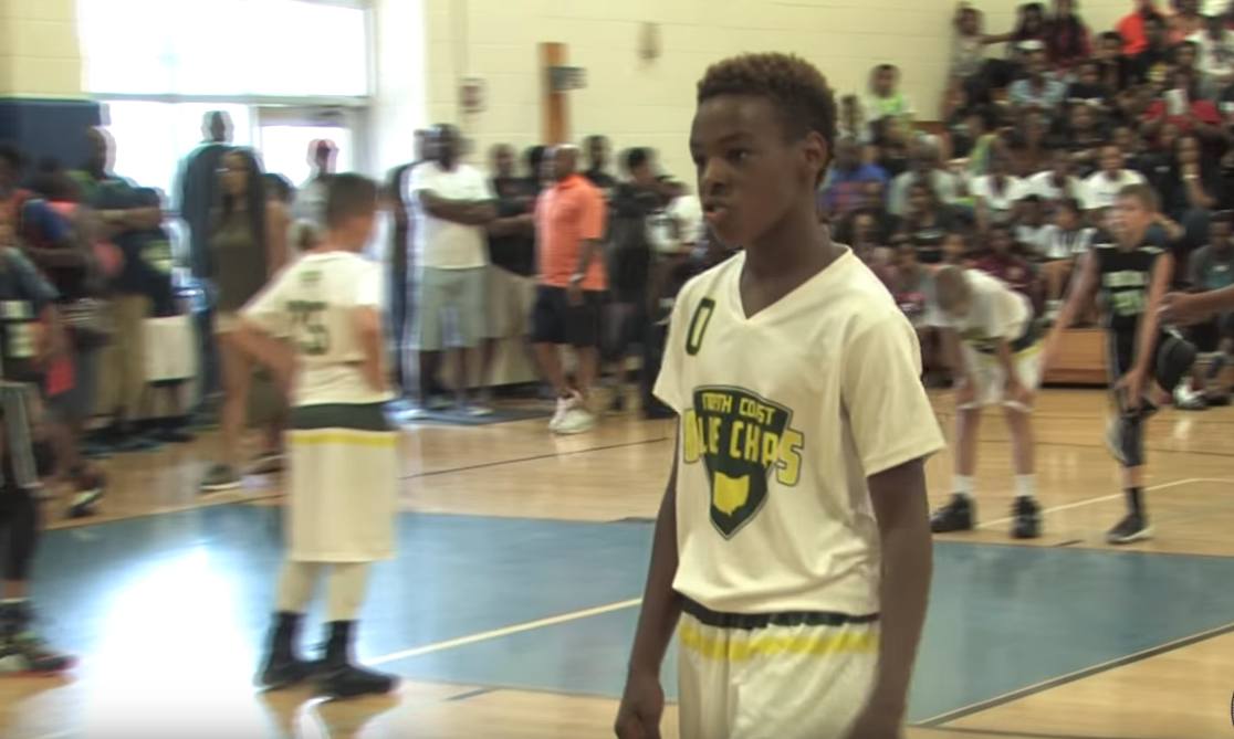 LeBron James Jr en action et champion USBA