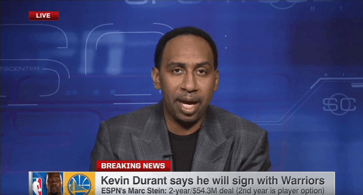 Stephen A. Smith se lâche sur Kevin Durant
