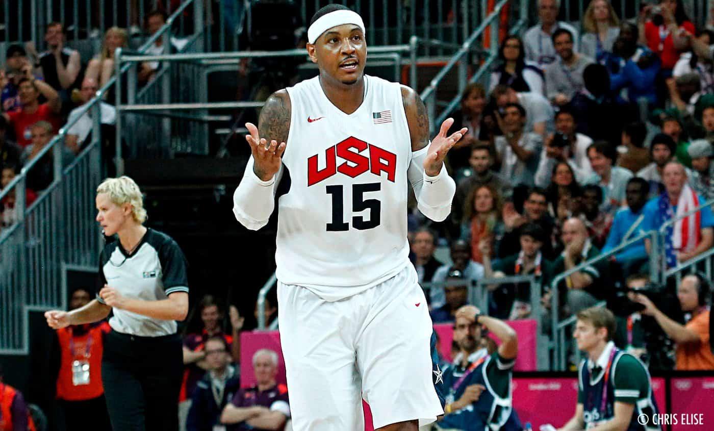 Carmelo Anthony, Kendrick Perkins milite pour sa présence avec Team USA