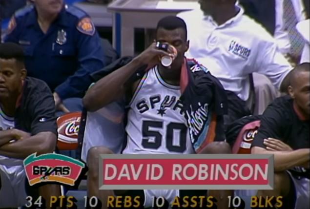 Le jour où David Robinson a marché sur les Pistons