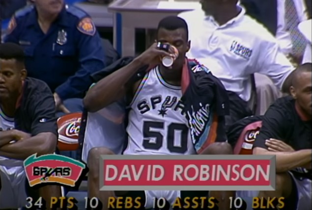 Il y a 23 ans, David Robinson réussissait un quadruple double !