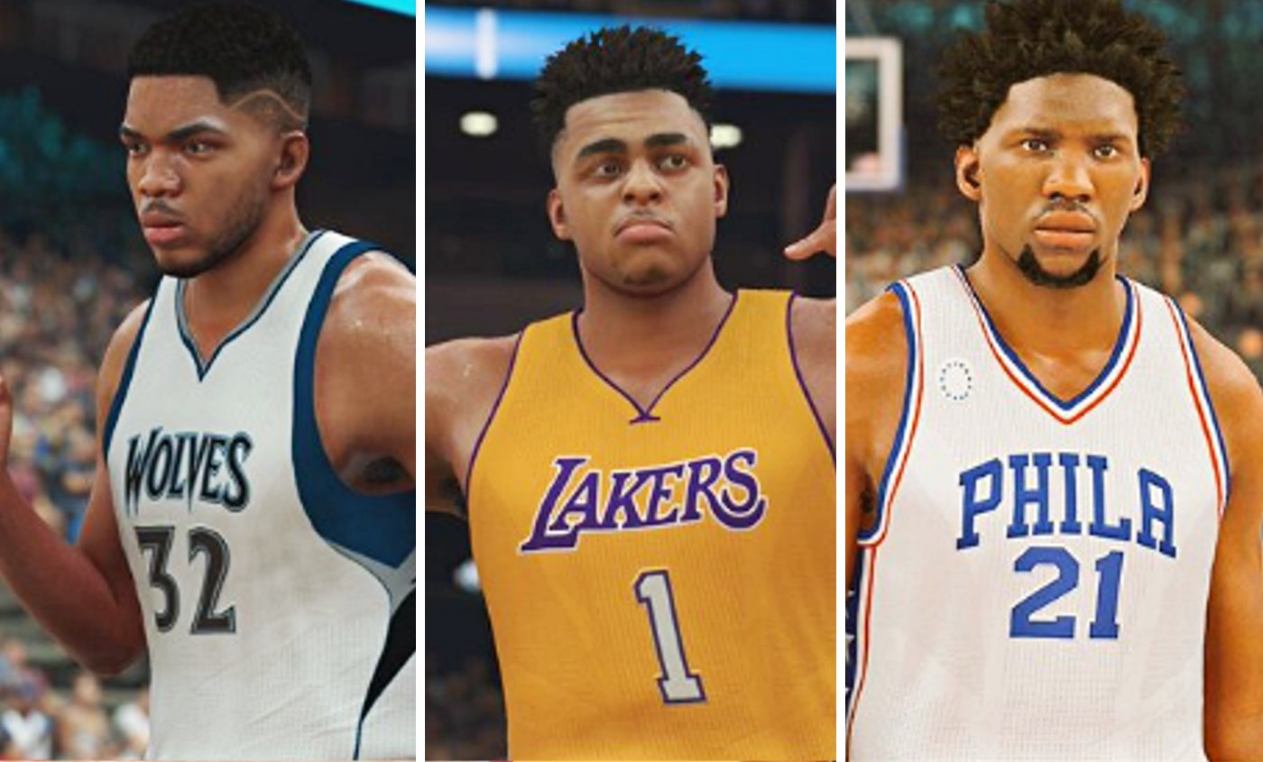 Karl Anthony Towns, Joel Embiid, D'Angelo Russell qui a la meilleure note sur NBA 2K17 ?