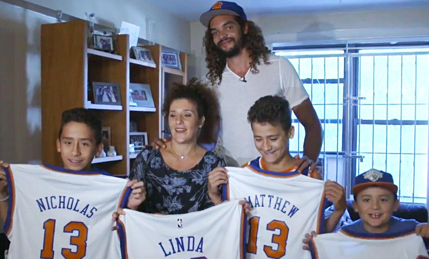Le très beau geste de Joakim Noah pour une famille new-yorkaise