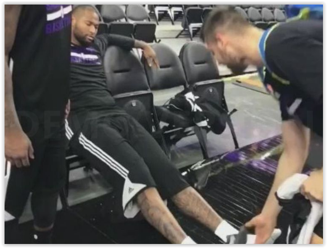 Quand DeMarcus Cousins bizute les rookies des Kings