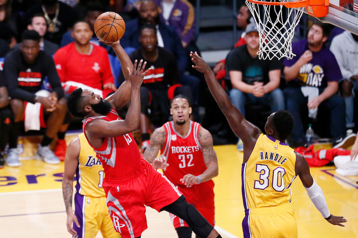 James Harden brille mais les Rockets tombent d'entrée face aux Lakers !