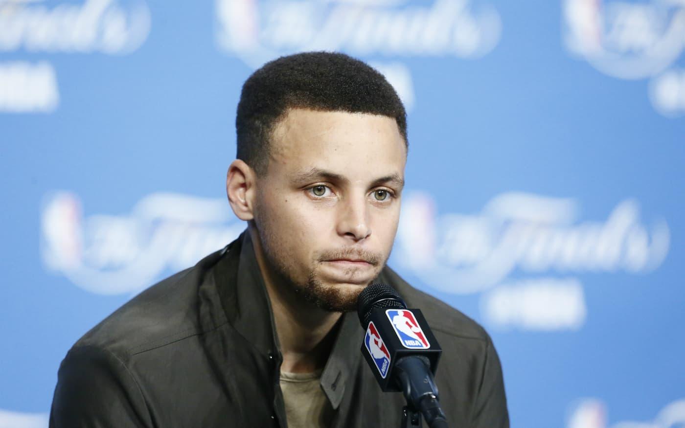 Ce n'était clairement pas le soir de Stephen Curry