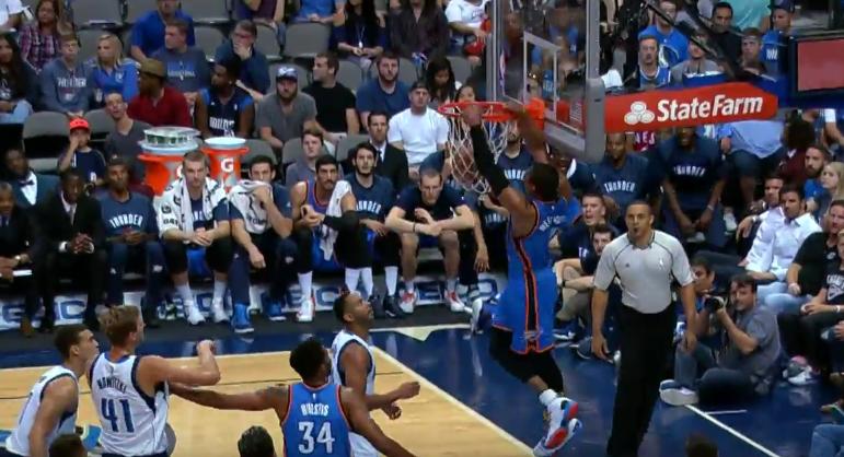 Top 5 : Westbrook s'amuse avec la défense des Mavericks