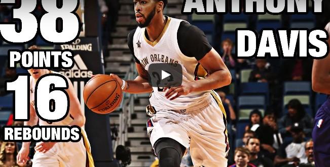 Perf : Anthony Davis en démonstration face aux Hornets !