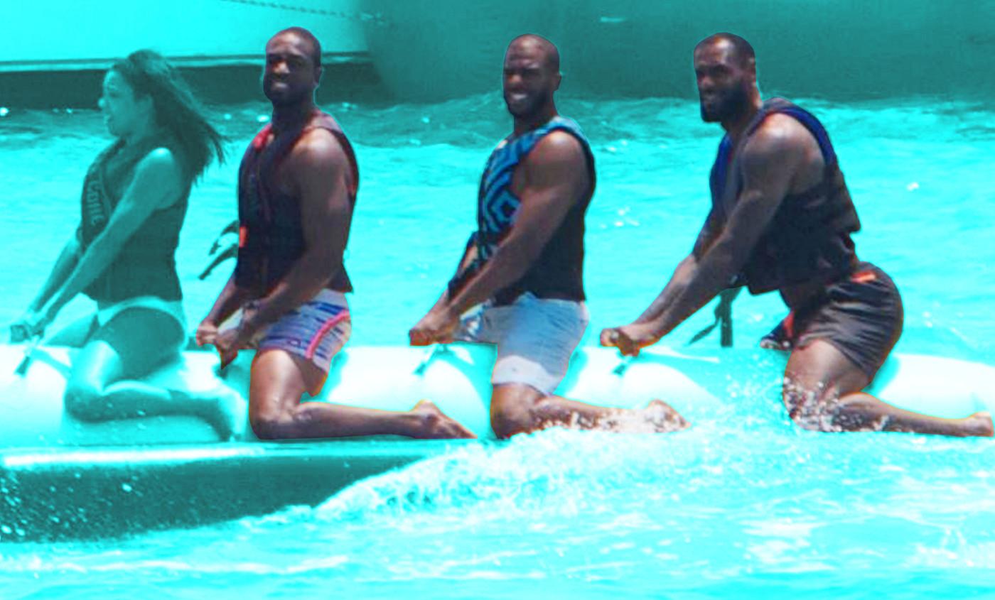 Les vraies conversations de LeBron, Wade, Paul et Melo !