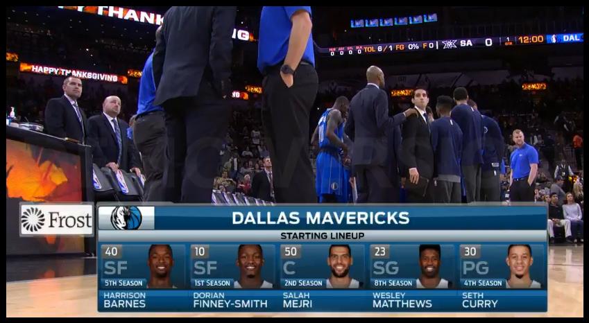 Les cinq de départ complètement improbables des Spurs et des Mavericks