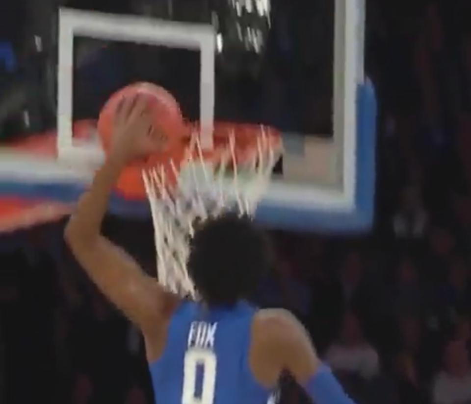 Le dunk de De'Aaron Fox, la nouvelle pépite de Kentucky