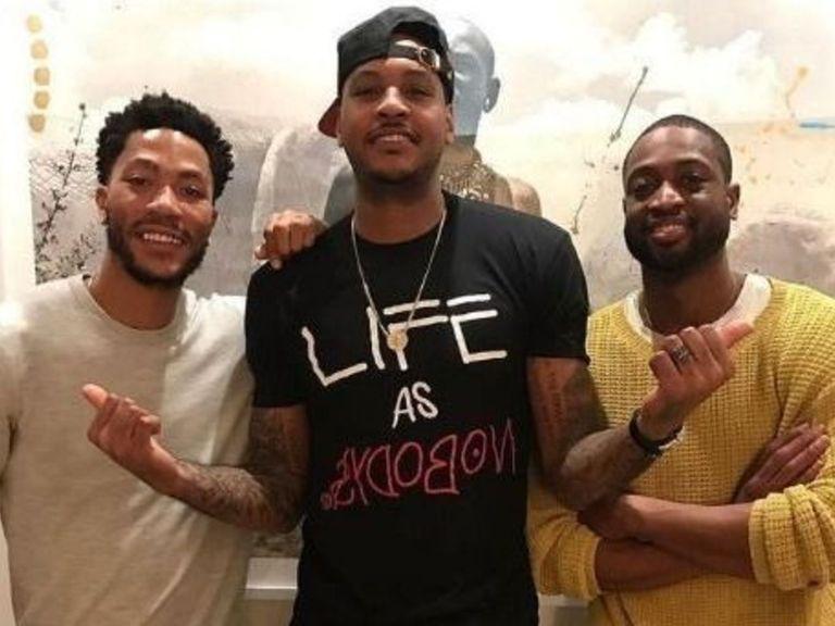 Carmelo Anthony, Dwyane Wade et Derrick Rose réunis pour Thanksgiving
