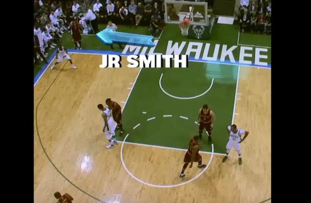 J.R. Smith, la légende : Il va checker Terry sur le banc et offre un panier