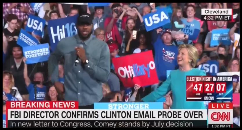 LeBron James était en campagne pour Hilary Clinton !