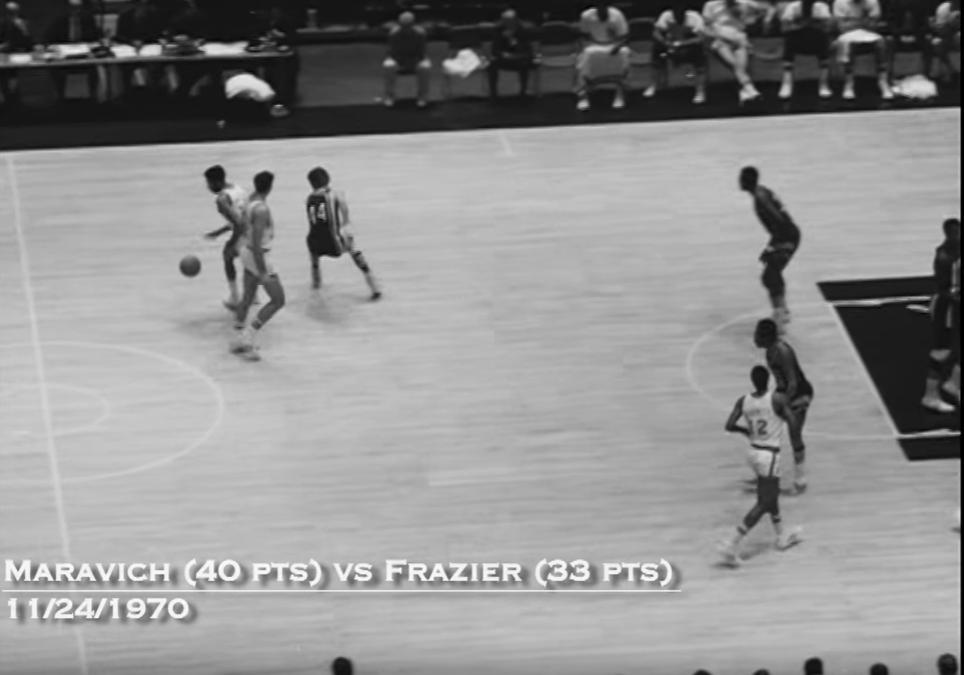 Duel vintage : Pete Maravich vs Walt Frazier