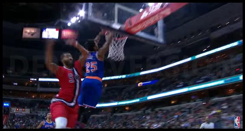 Le premier dunk de la saison pour Derrick Rose !