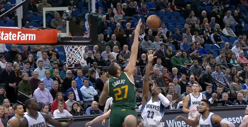 Block Party : Rudy Gobert se paye Andrew Wiggins et Karl-Anthony Towns