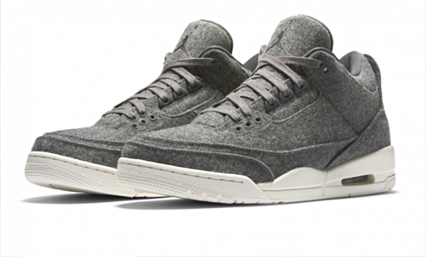 Les sorties sneakers du week-end : Les Jordan 3 et XXI s'habillent pour l'hiver