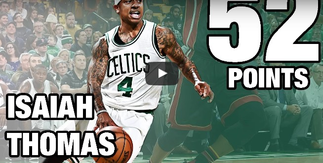 Perf : Le one man show d'Isaiah Thomas contre Miami (52 pts)